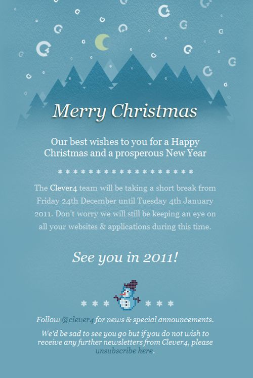 Beautiful Email Newsletters » Blog Archive » Merry Christmas