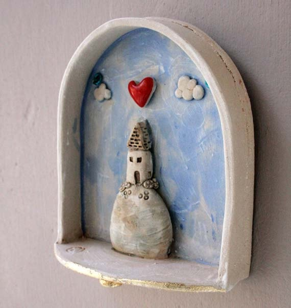 Home is where the Heart is  stoneware ceramic by jolucksted, £55.00