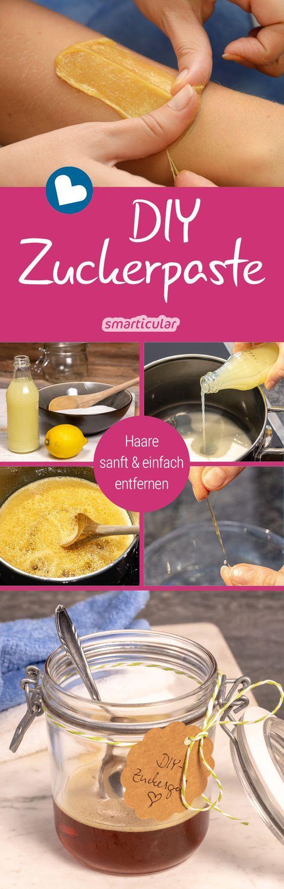 Zuckerpaste zur sanften Haarentfernung preiswert selber machen