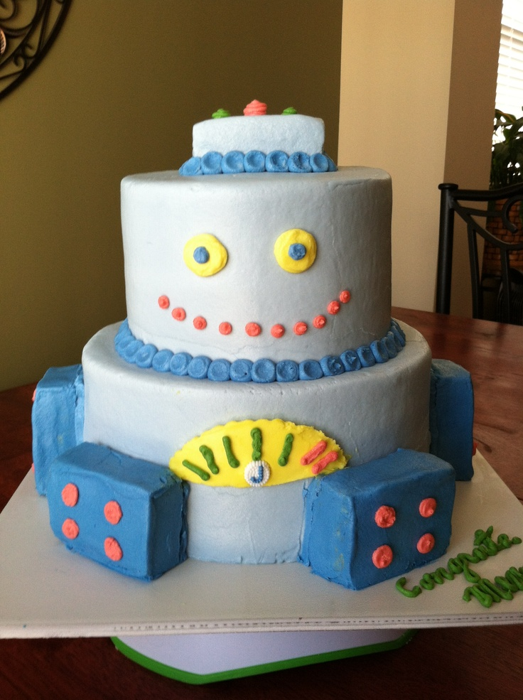 robot baby shower cake baby shower ideas pinterest babies robot