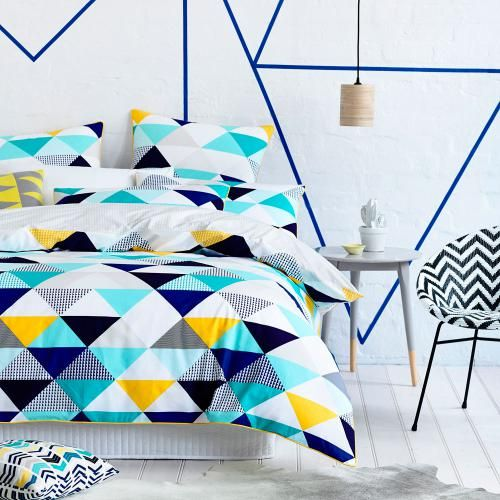 Home Republic Flagstaff Quilt Cover Sets Blue, quilt covers sets, doona covers