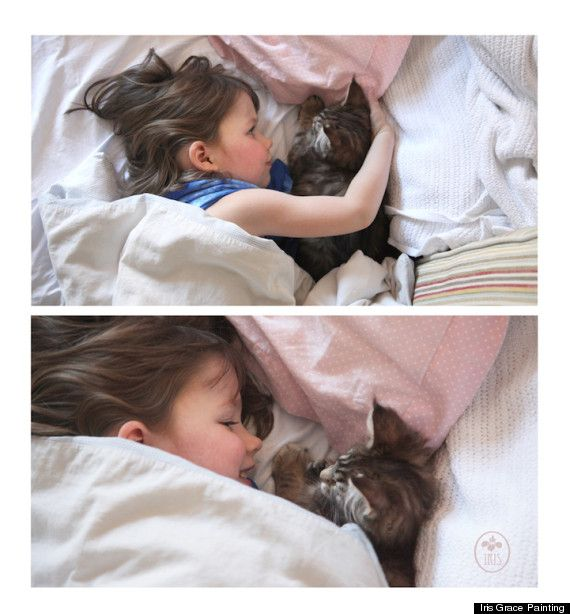 Child Artist with Autism Expresses Herself with the Help of her Therapy Cat [Iris Grace and Her Therapy Cat Thula ]
