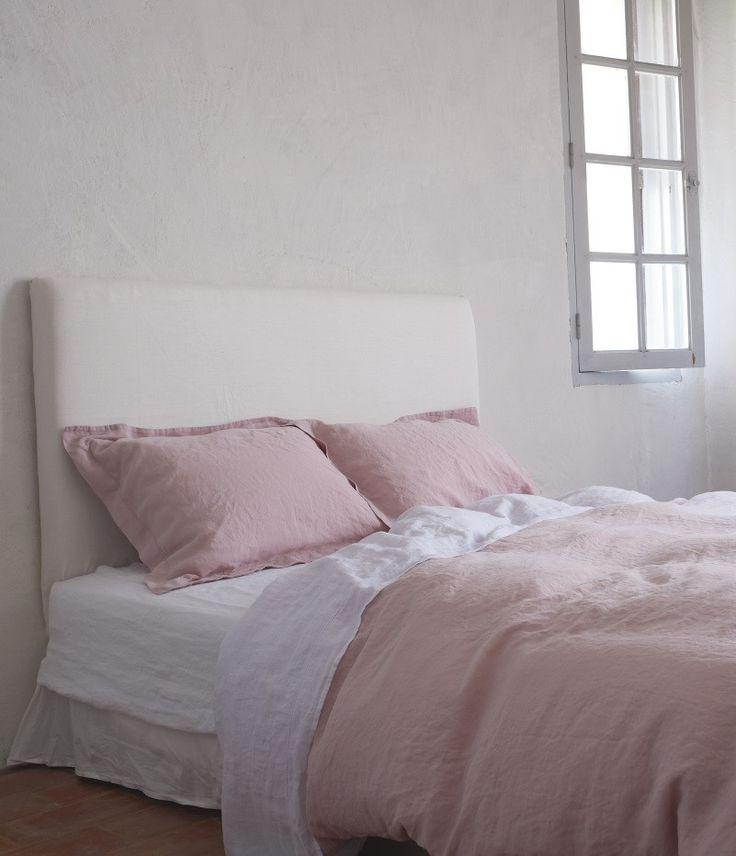 European Linen Bedding, Cassis Rose - Madison