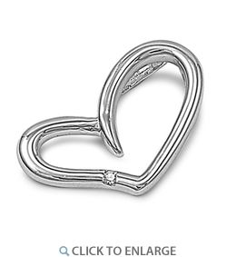 Sterling Silver Heart Small CZ #Pendant  * $8.29