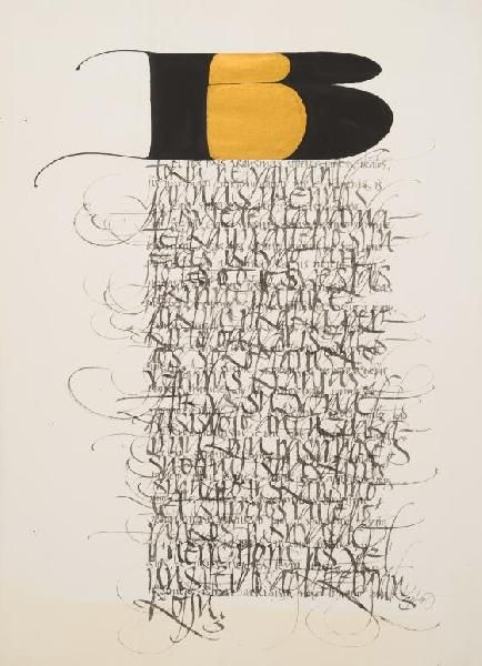 Rimvydas Kepežinskas(Lithuania, b.1956)    Calligraphic sketch   2001    ink on paper