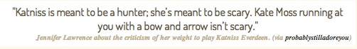 Jennifer on her weight.