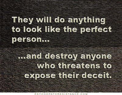 Narcissists are deceitful creatures who portray themselves to never to be wrong. It's always someone else's fault