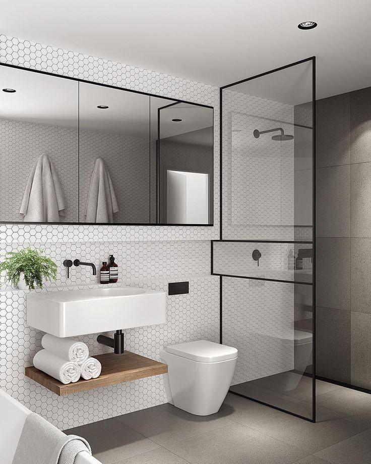 40 atemberaubende skandinavische Badezimmer Design-Ideen