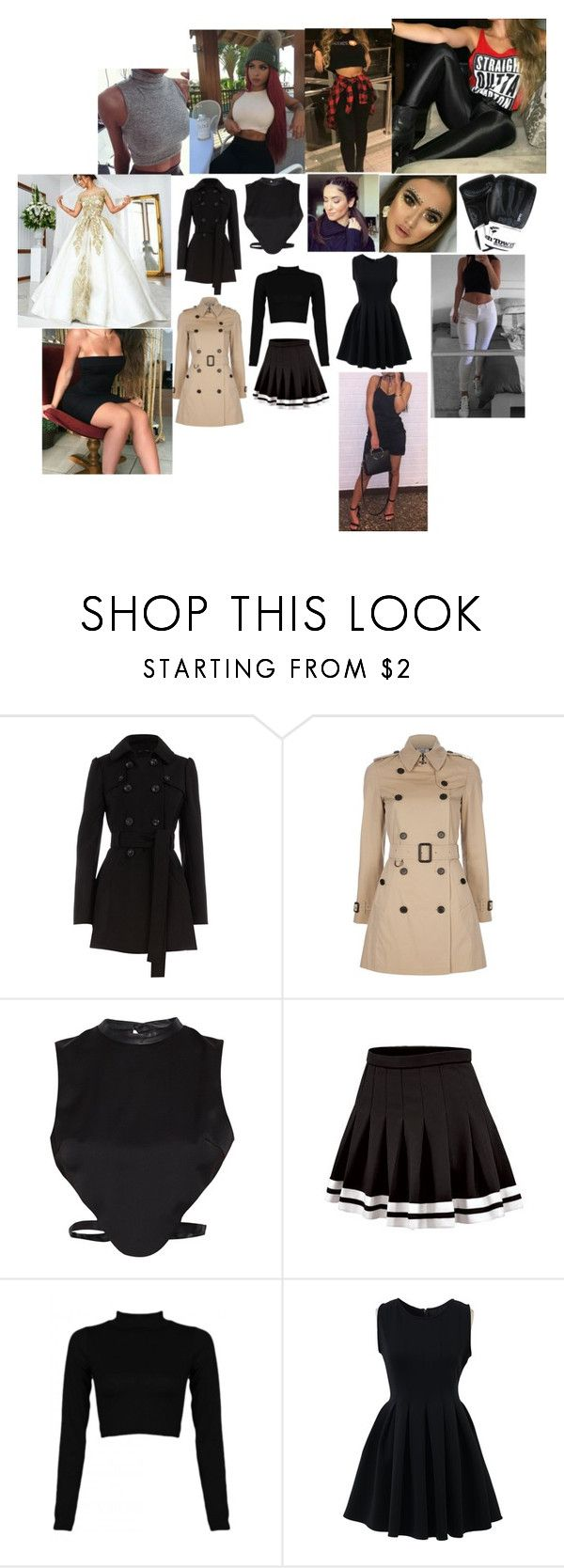 """for her 8"" by nikoleta-nicky-malik ❤ liked on Polyvore featuring Dorothy Perkins, Burberry, Morgan and Chicwish"