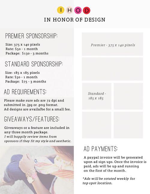 Best Blogging Media Kit Images On   Tips Blog Tips