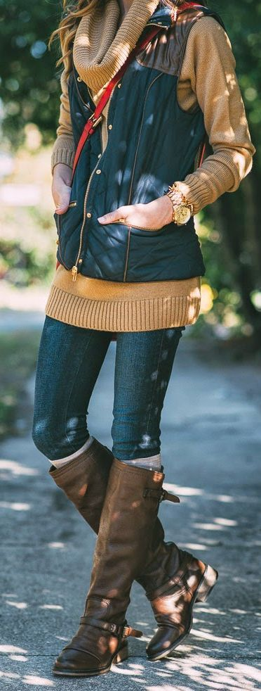 Navy Puffer Vest by Sequins & Things - Looks great with layers! Try a chunky sweater and leggings or your favorite college sweatshirt. #GreatSkyGifts
