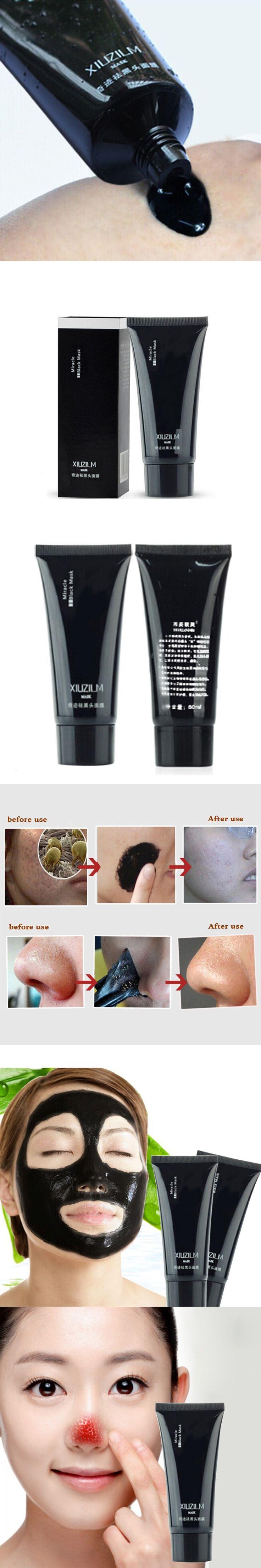 1Pcs 60G Suction Black Mask For Face Acne Blackhead Remover Black Head Pore Nose Strip Black Dots Mask Peel Off Face Masks