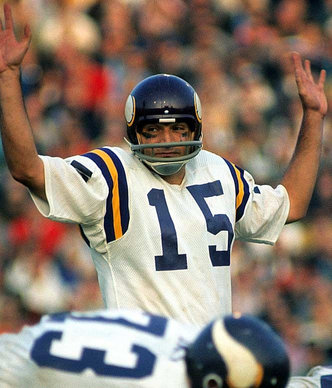 Gary Cuazzo, the starting quarterback for coach Bud Grant in the 1970-1971 season. The Vikings won 12 games and lost 2 on their way to a third straight Division Championship.