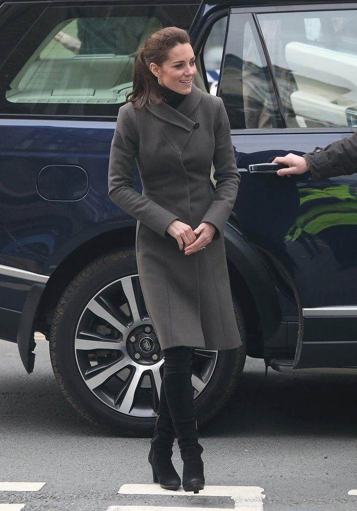 Kate Middleton in Reiss Angel Coat November 2015 | POPSUGAR Fashion