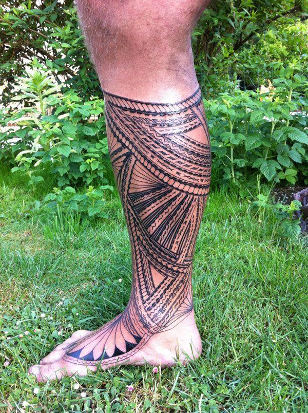 Tomasi Suluape Leg Foot 06 #samoan #tattoo