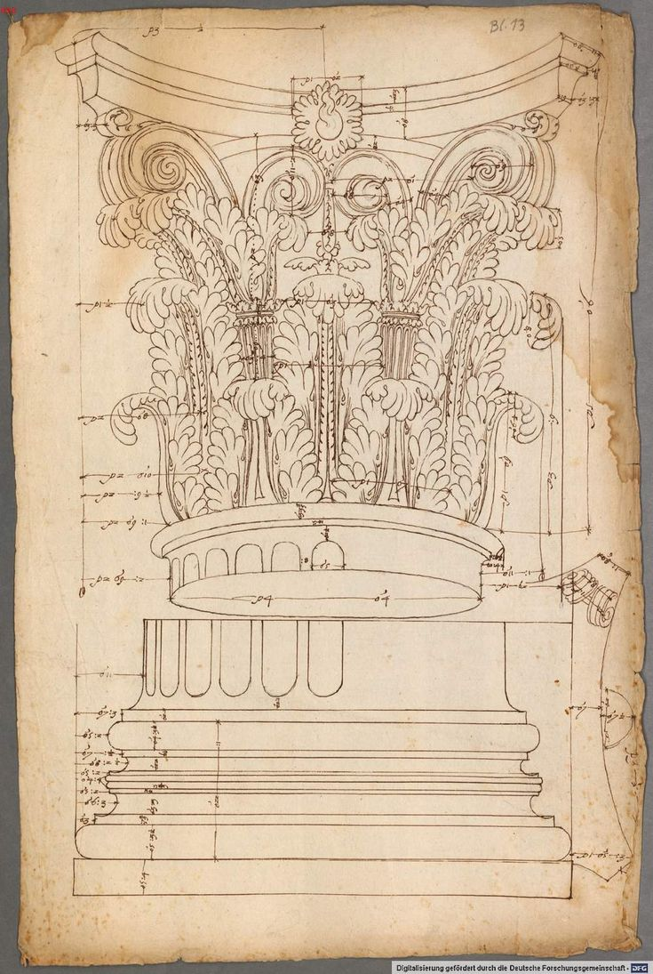 French and Italian architectural drawings and engravings of classical order of columns - 1530 - 1570                                                                                                                                                     More