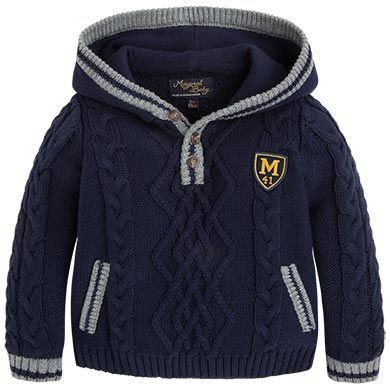 Jersey oitos capuz Azuis Mayoral - avanço coleção outono inverno 2015