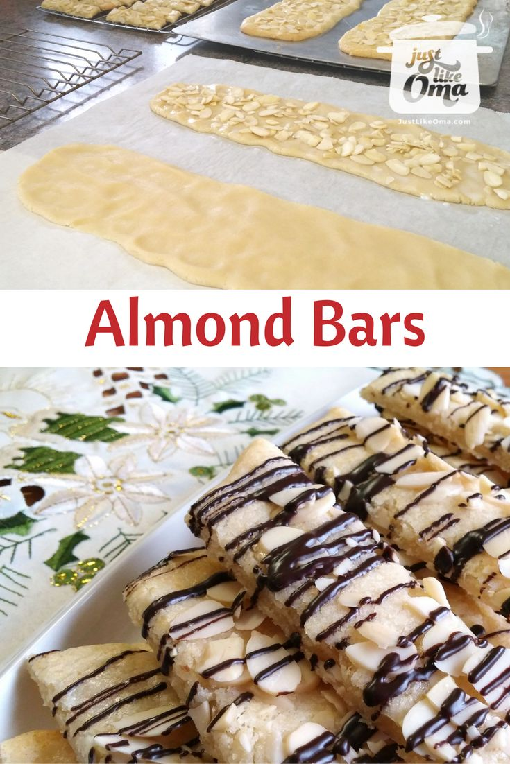 48 best omas cookies images on pinterest german recipes almond bar recipe made just like oma forumfinder Images
