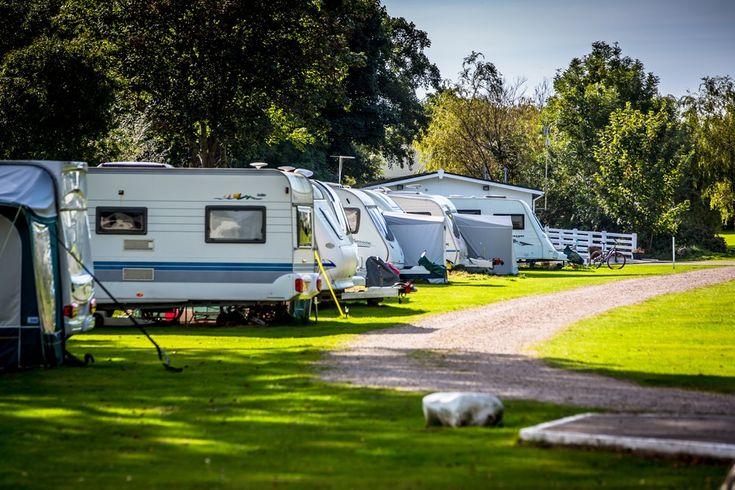 Touring caravan site near Caernarfon