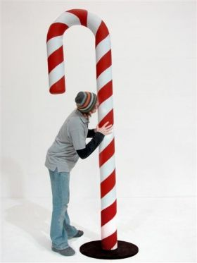How to make large  candy cane window ornaments | Prop code: CCF01/FP25 - Giant Candy Cane Prop (Snow)