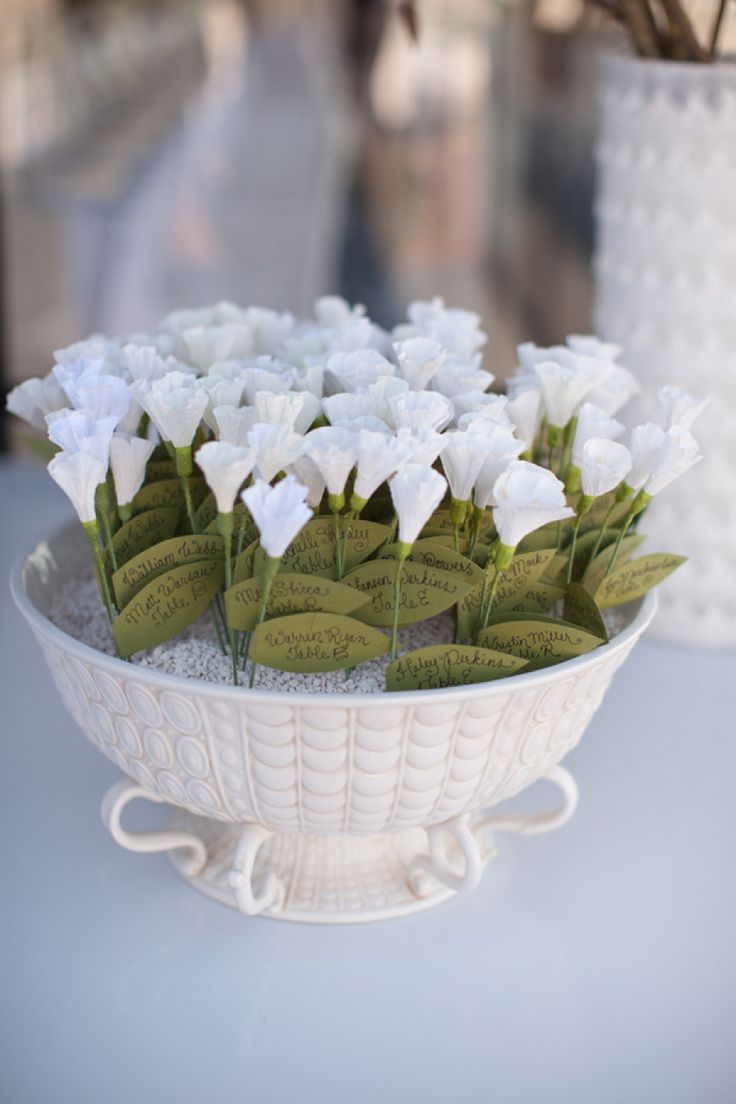 174 best events favors and seating images on pinterest dream add an artistic edge with petite paper blooms escortcards weddingideas studio 28 jeuxipadfo Choice Image