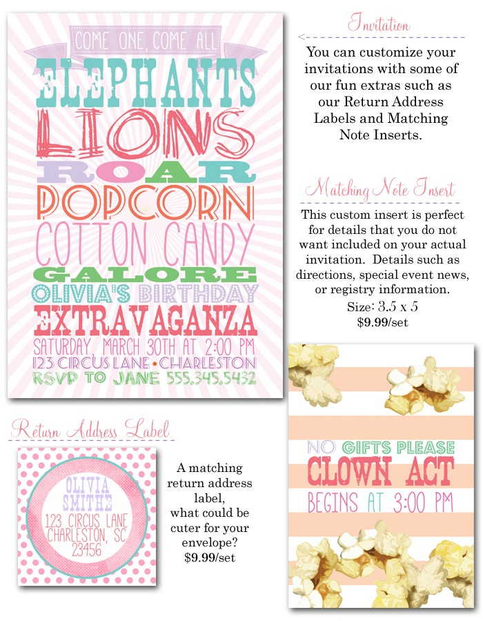 97 best Circus theme party images on Pinterest Circus birthday - circus party invitation