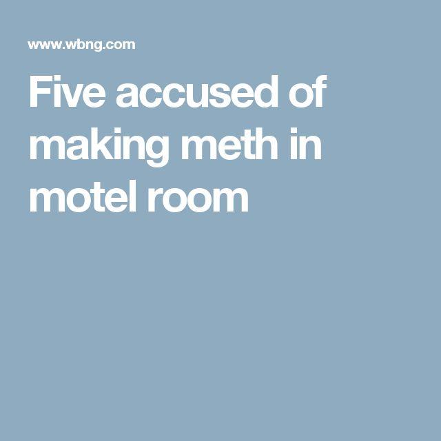 Five accused of making meth in motel room