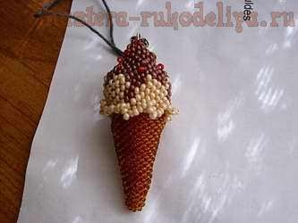 beading: Ice cream cones clear instructions and diagrams PATTERN