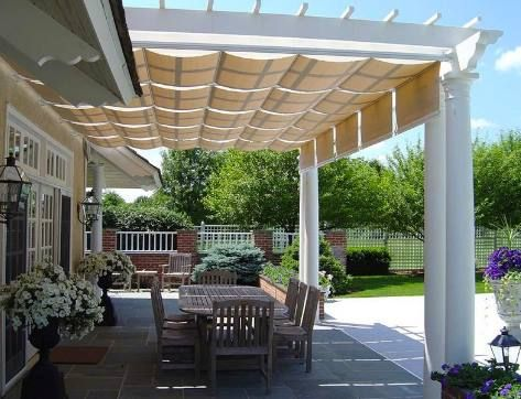 Pergola With Retractable Shades Shades For Pergolas Great Home IdeasGreat  Home Ideas