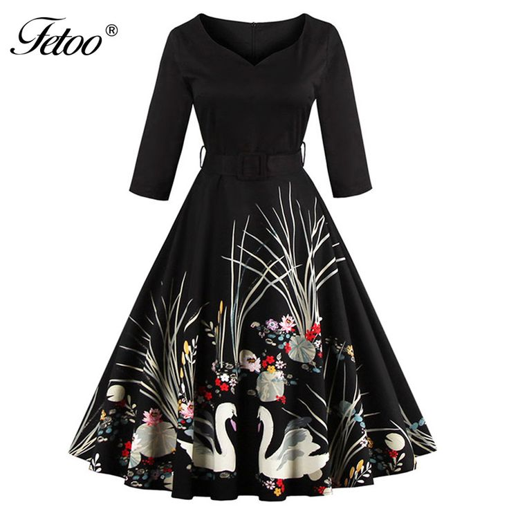 Here is a sneak peak at what's new and fresh at Costbuys today Elegant Black Swa... see for yourself and don't ever doubt again http://www.costbuys.com/products/elegant-black-swan-print-a-line-vintage-dress-v-neck-3-4-sleeved-high-waist-belts-zipper-swing-party-retro-feminino-vestidos-p40?utm_campaign=social_autopilot&utm_source=pin&utm_medium=pin