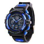 Hiwatch Montres de Sport Imperméable Montre-Bracelet Numérique Etanche pour les Enfants Bleu: MONTRE DE SPORT : La montre…