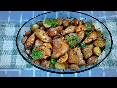 Da Panela para o Coração : Frango assado no forno com batatas