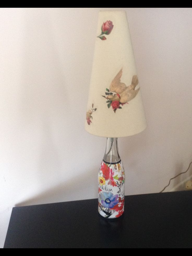 Limited edition wine bottle used for a lamp