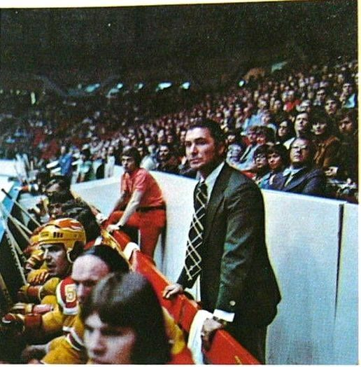 Blazers Hull: Andy Bathgate Coaching The Vancouver Blazers Of The WHA