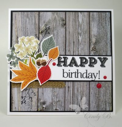 PTI Colorpop Autumn Kit Birthday card (Make it Monday #261 - Using Florals on a masculine card)