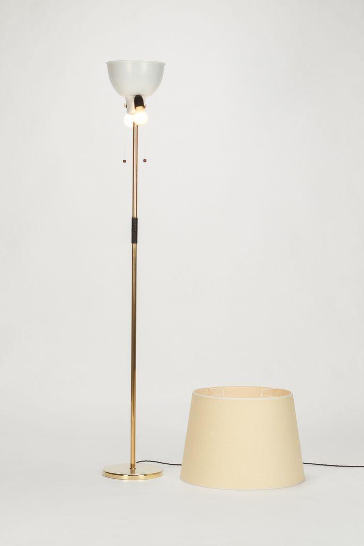 BAG Turgi Stehlampe Messing 50er - Okay Art