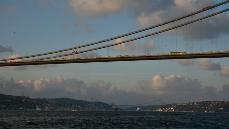 Istanbul, Turkey - September 17, 2015: Bosphorus Bridge And Traffic Timelapse With Wonderful Clouds At Istanbul, Turkey. Vehicles Are Visible At The Bridge. Also Boats Are Passing At The Bosphorus. Stok Video Klip 11993357 - Shutterstock