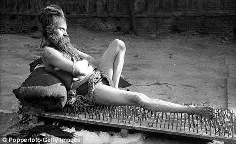Bed of nails - In early Hinduism,Hindu men slept on beds of nails to heal the body and release physical,mental,and emotional blockages.