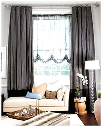 25 best large window treatments ideas on pinterest - Modern window treatments for living room ...