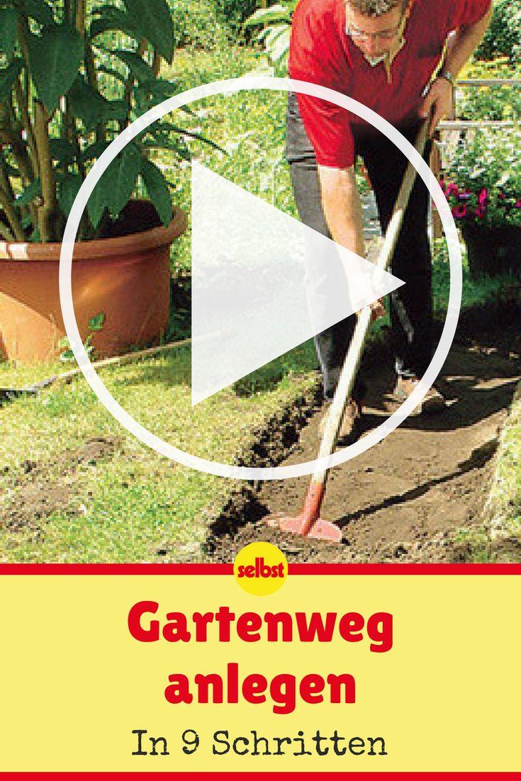 Ein Gartenweg muss keineswegs aufwendig sein: Ein wenig Planung, einen Tag Arbeit, und schon kannst du neue Wege beschreiten! #video #videotutorial #anleitung #garten #diy #selbermachen