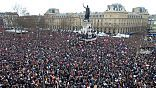One million strong, including 40 world leaders, gather at anti-terrorism rally in Paris, France. Nearly 4 million march across France following the Charli Hebdo terrorist massacre.  Marches also were held in New York, Madrid, London, Washington DC, and other cities around the world in a show of unity with France & against terrorism.