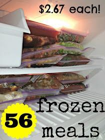 Great idea for future wifey  all things katie marie: Frozen Meal Prep