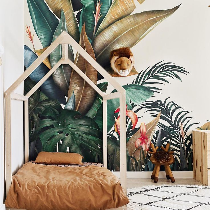 Tropical Paradise Is Happening In Kids Room Thanks To Amazing Wallpapers From Photowall Sweden Big Surpr Kids Room Inspiration Kid Room Decor Toddler Bedrooms