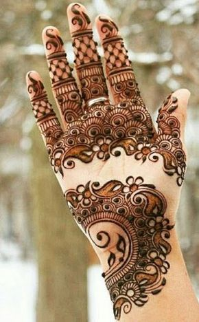 I like this >> 30 Lovely Henna Mehndi Designs For Palms In 2016