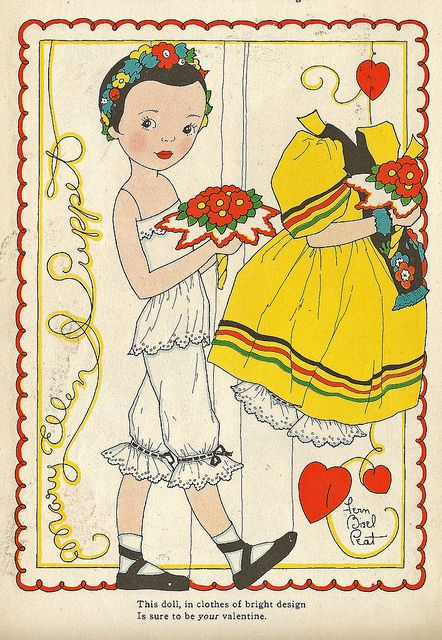Vintage Paper Doll by shelece, Just in case you didn't think Mary Englebreit wasn't inspired by 1940s artwork.