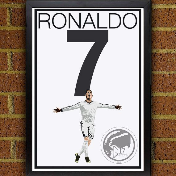 Cristiano Ronaldo 7 Poster Real Madrid Portugal Soccer