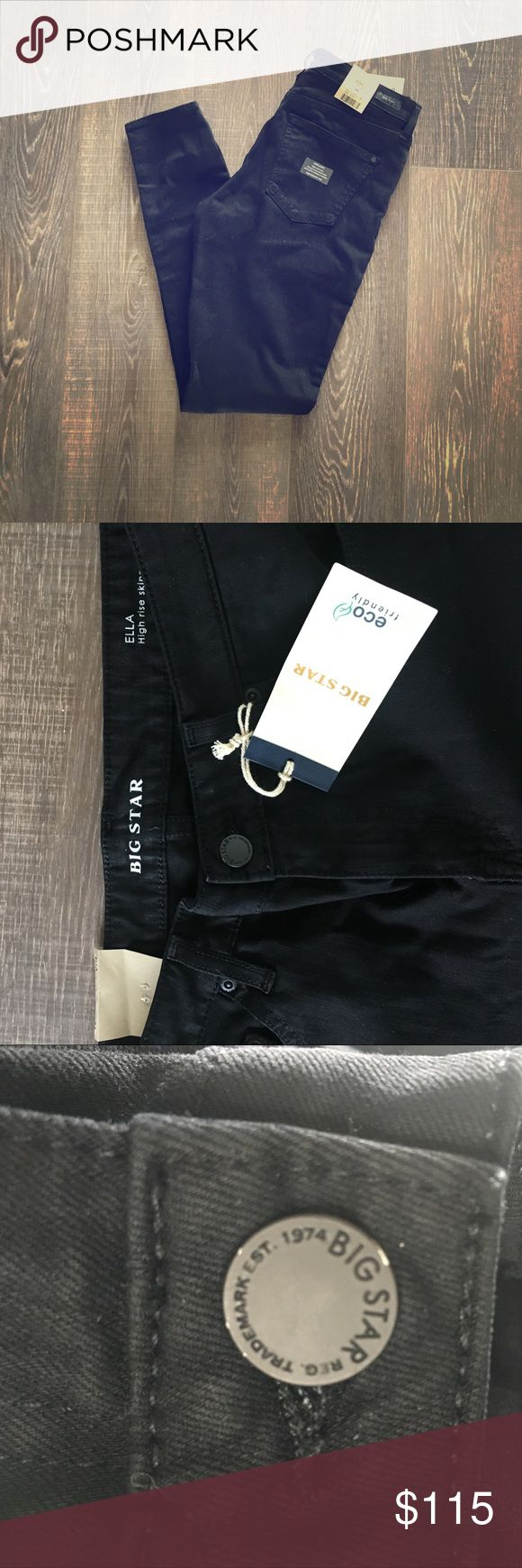 NWT Big Star Black high waist Skinny Brand New with tags. Super cute high waisted classic black skinny jeans. Fit true to size. Big Star Jeans Skinny