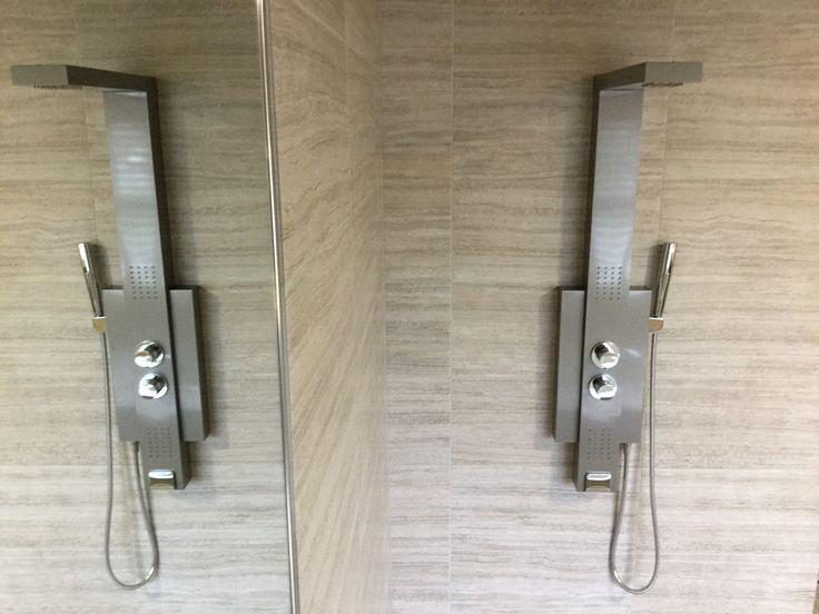 clean waterfall shower