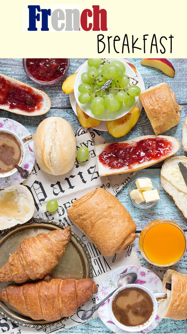 A look at the famous French breakfast, featuring a selection of breads and…