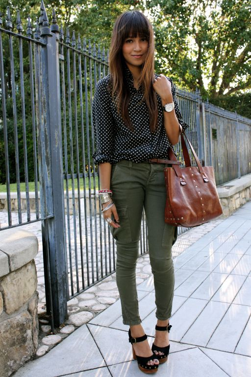 Awesome  Dream Closet Clothes Olive Pants Outfit Green Pants Fall Winter